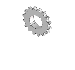 Řetězová kola z uhlíkové oceli s upínacímí pouzdry dle DIN 8187