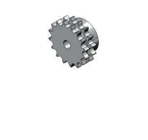 Řetězová kola z uhlíkové oceli dle DIN 8187